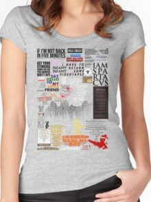 39 Favourite Film Quotes Women's Fitted Scoop T-Shirt