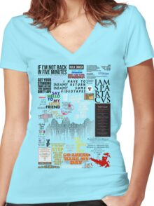 39 Favourite Film Quotes Women's Fitted V-Neck T-Shirt