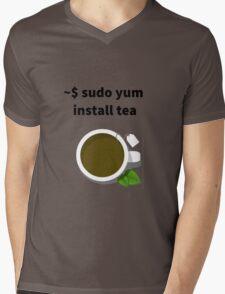 Linux sudo yum install tea Mens V-Neck T-Shirt