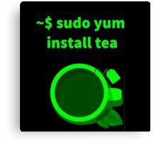 Linux sudo yum install tea Canvas Print