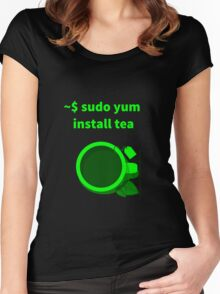 Linux sudo yum install tea Women's Fitted Scoop T-Shirt