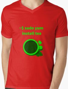 Linux sudo yum install tea Mens V-Neck T-Shirt