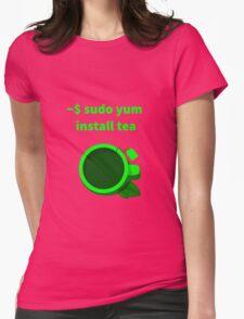 Linux sudo yum install tea Womens Fitted T-Shirt