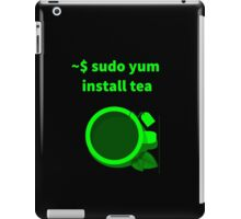 Linux sudo yum install tea iPad Case/Skin