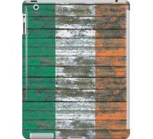 Flag of Ireland on Rough Wood Boards Effect iPad Case/Skin