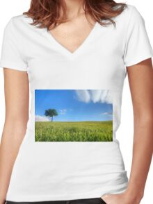 Tree Women's Fitted V-Neck T-Shirt