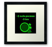 Linux sudo pacman -S tea Framed Print