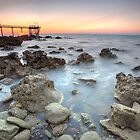 Nightcliff Pier Rocks, Darwin, Northern Territory, A by Andrew Brooks