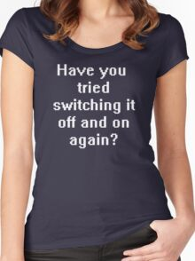 Have you tried switching it off and on again? Women's Fitted Scoop T-Shirt