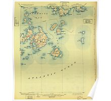 Maine USGS Historical Map Swan Island 807696 1904 62500 Poster