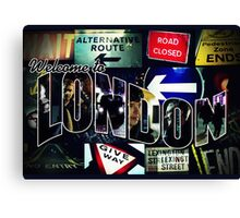 Welcome To London - Sherlock Version #3 Canvas Print