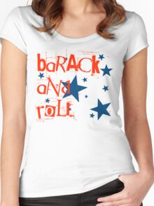barack and roll Women's Fitted Scoop T-Shirt