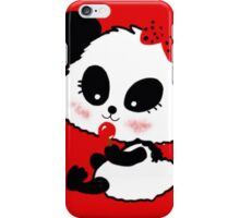 Cute Baby Girl Panda cartoon red black iPhone Case/Skin