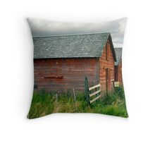 Red Barns Series 3 Throw Pillow
