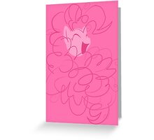 Pinkie Pie Simplistic Greeting Card
