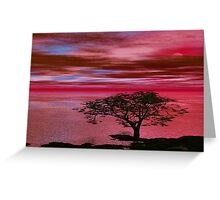Sunset on Lonely Beach Greeting Card