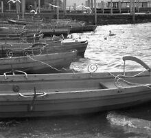BOATS ON THE LAKE AT KESWICK ENGLAND by kazaroodie