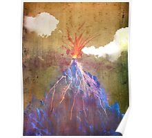 Abstract volcano eruption Poster