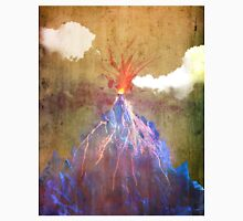 Abstract volcano eruption Unisex T-Shirt