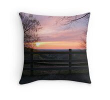 Dusk at the Landslide Throw Pillow