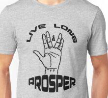 Live Long and Prosper (Black) Unisex T-Shirt