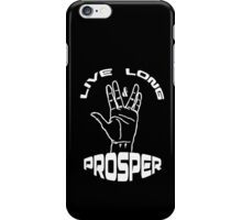 Live Long and Prosper (White) iPhone Case/Skin