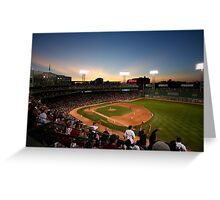 Dusk at Fenway Park Greeting Card