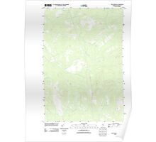 Maine USGS Historical Map Telos Brook 20110906 TM Poster