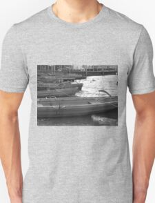 BOATS ON THE LAKE AT KESWICK ENGLAND Unisex T-Shirt