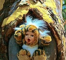 Hole in the Trunk TIger Doll  by jlara