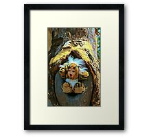 Hole in the Trunk TIger Doll  Framed Print