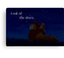 Look at the Stars... Canvas Print