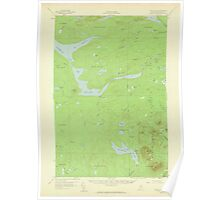 Maine USGS Historical Map Telos Lake 306808 1957 62500 Poster