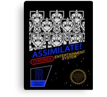 NINTENDO: NES ASSIMILATE! Canvas Print