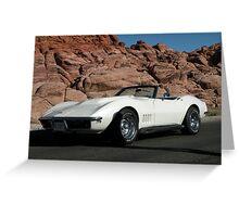 1968  Pearl White Corvette Greeting Card