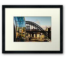 Gateshead Sage and Tyne Bridge Framed Print