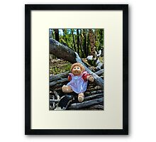 Burnt Timber Cabbage Patch Kid Framed Print