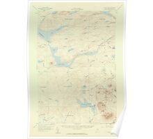Maine USGS Historical Map Telos Lake 306809 1957 62500 Poster