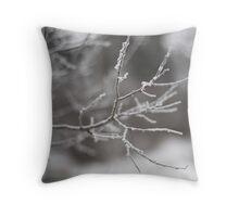 Frozen Fog Throw Pillow