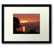 Storm on the Inlet Framed Print