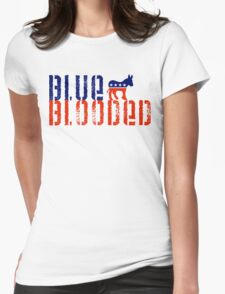 blue blooded democrat Womens Fitted T-Shirt