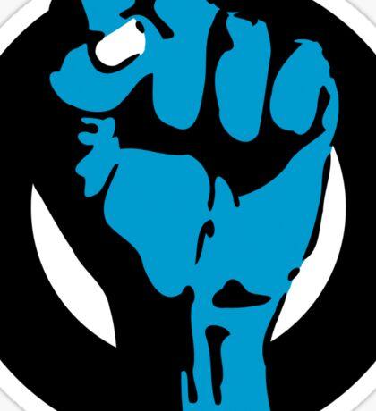 blue blooded fist Sticker