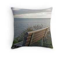 """Bench To Contemplate On"" Throw Pillow"