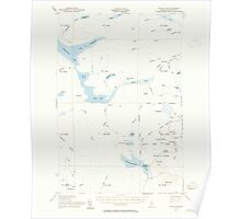 Maine USGS Historical Map Telos Lake 460949 1953 62500 Poster