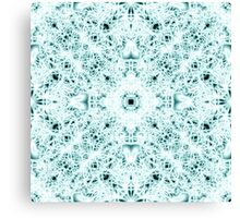 """Spirit of India: Two Crosses"" in white and turquoise Canvas Print"