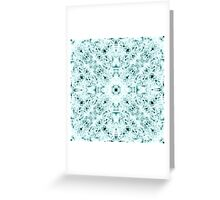 """""""Spirit of India: Two Crosses"""" in white and turquoise Greeting Card"""