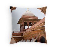 Jama Masjid Mosque Throw Pillow