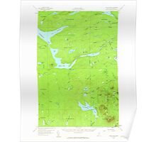 Maine USGS Historical Map Telos Lake 460950 1957 62500 Poster