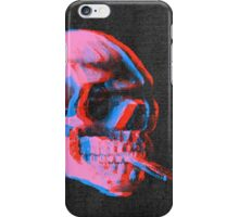 Van Gogh Skull with burning cigarette remixed 2 iPhone Case/Skin