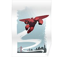 Baymax in the sky! Poster